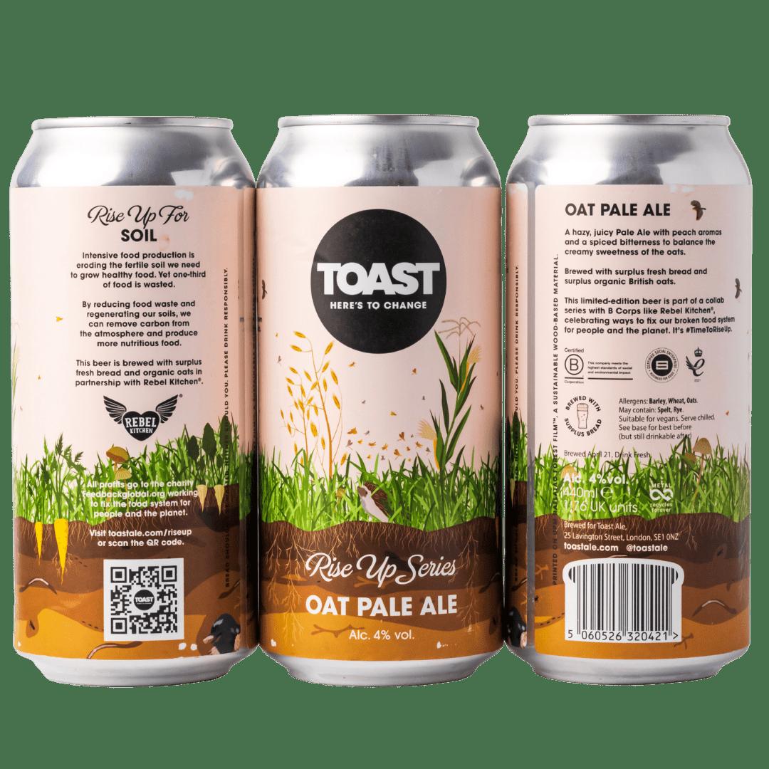 Toast Ale Oat Pale Ale Case cans