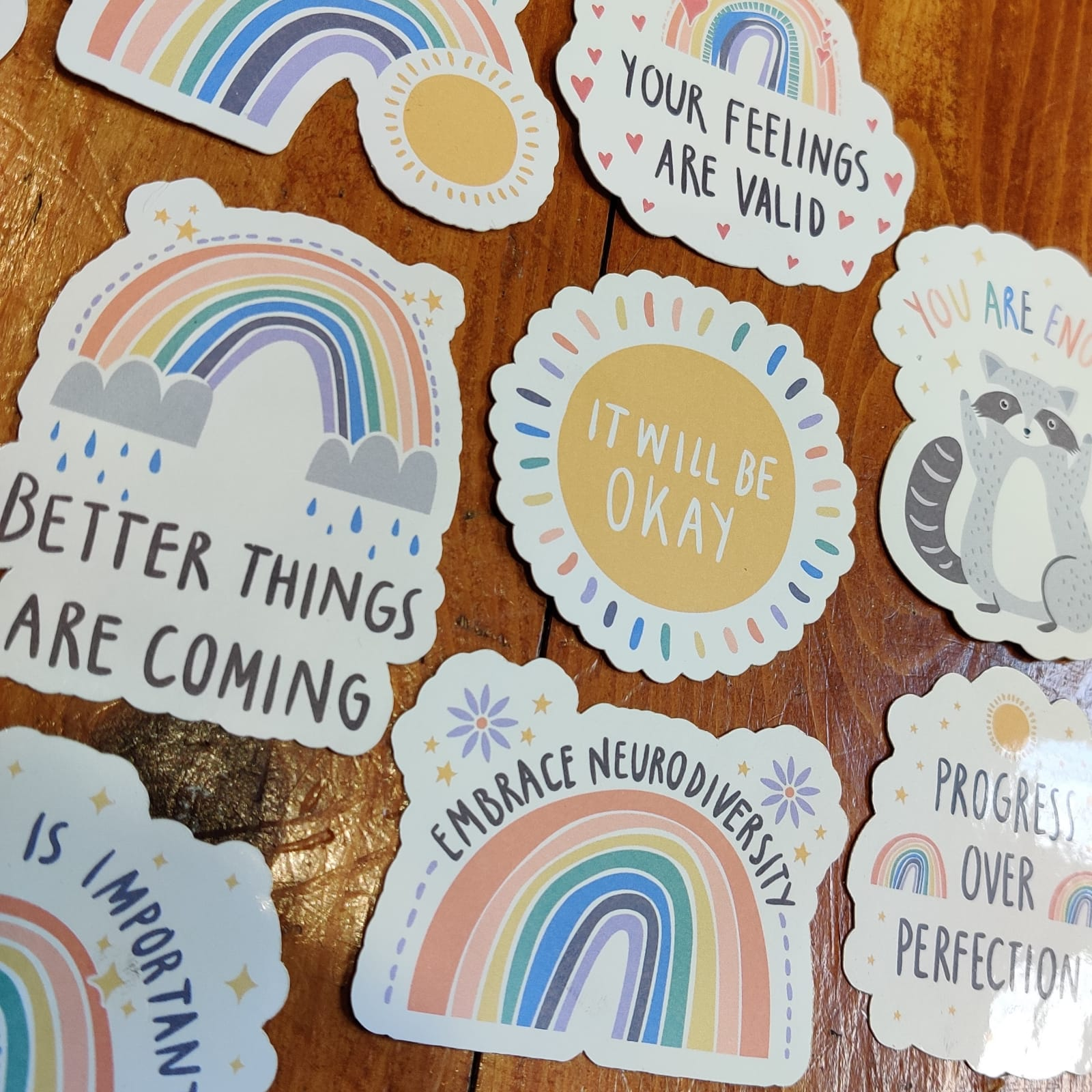 Pastel Rainbow Stickers | Mental Health Support | Positive Reminder | Encouragement | Positive Stickers | Anxiety | Charity Donation Kind Shop