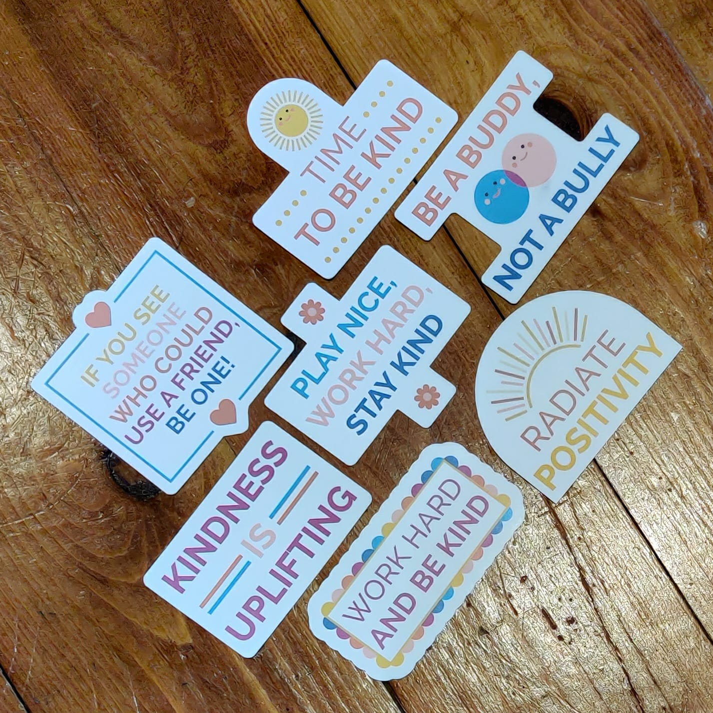 Kindness Positive Stickers   Mental Health Support   Positive Reminder   Encouragement   Positive Stickers   Anxiety   Charity Donation Kind Shop