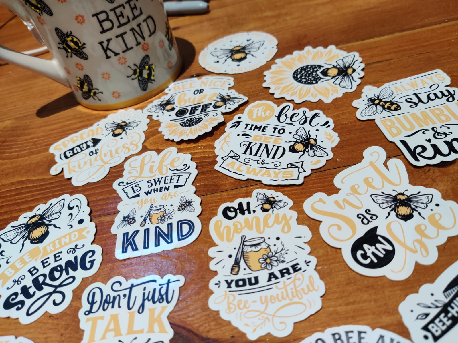 Positivity Bee Themed Stickers | Mental Health Support | Positive Reminder | Encouragement | Bumble Bee Sticker | Anxiety | Charity Donation Kind Shop 3