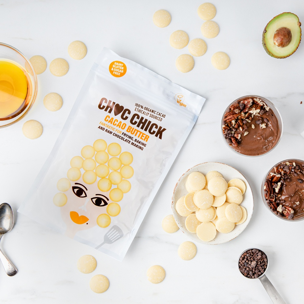 CHOC CHICK Organic Raw Cacao Butter (100g, 250g & 1kg) Kind Shop