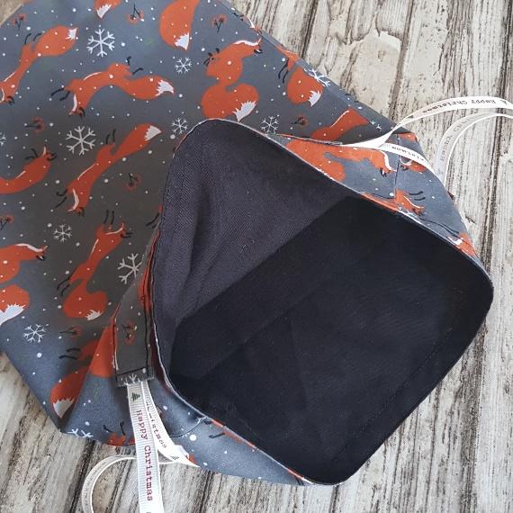 Eco-Friendly Fully Lined Reusable Christmas Gift Bag Storage Bag | Christmas Foxes Kind Shop 7