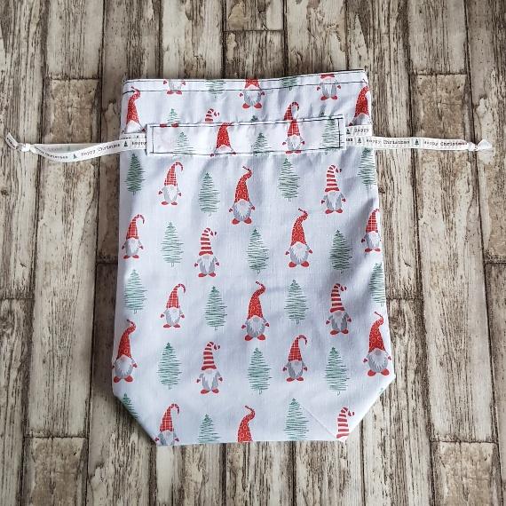 Eco-Friendly Fully Lined Reusable Christmas Gift Bag Storage Bag   Gnome Gonk Kind Shop 4
