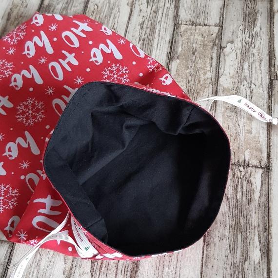 Eco-Friendly Fully Lined Reusable Christmas Gift Bag Storage Bag | Ho Ho Ho Print Kind Shop 7