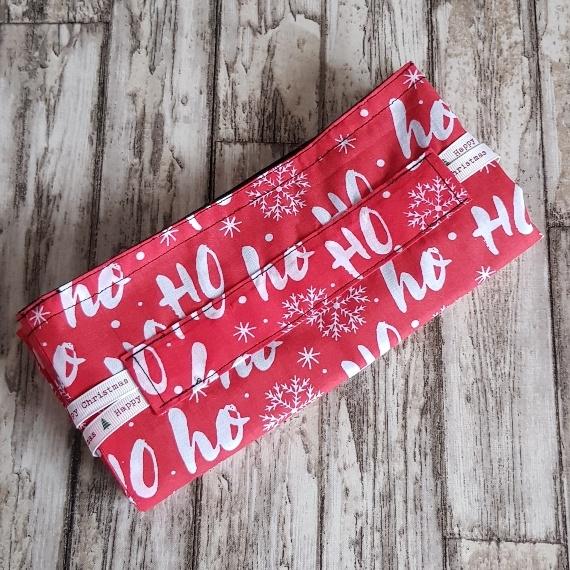 Eco-Friendly Fully Lined Reusable Christmas Gift Bag Storage Bag | Ho Ho Ho Print Kind Shop 8