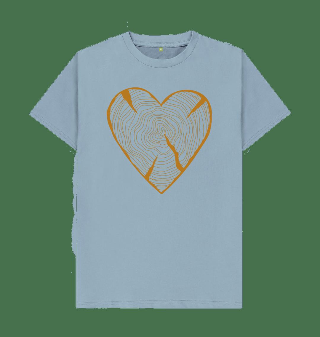 Unisex NATURE HEART ADVENTURE Organic Cotton T-shirt light blue