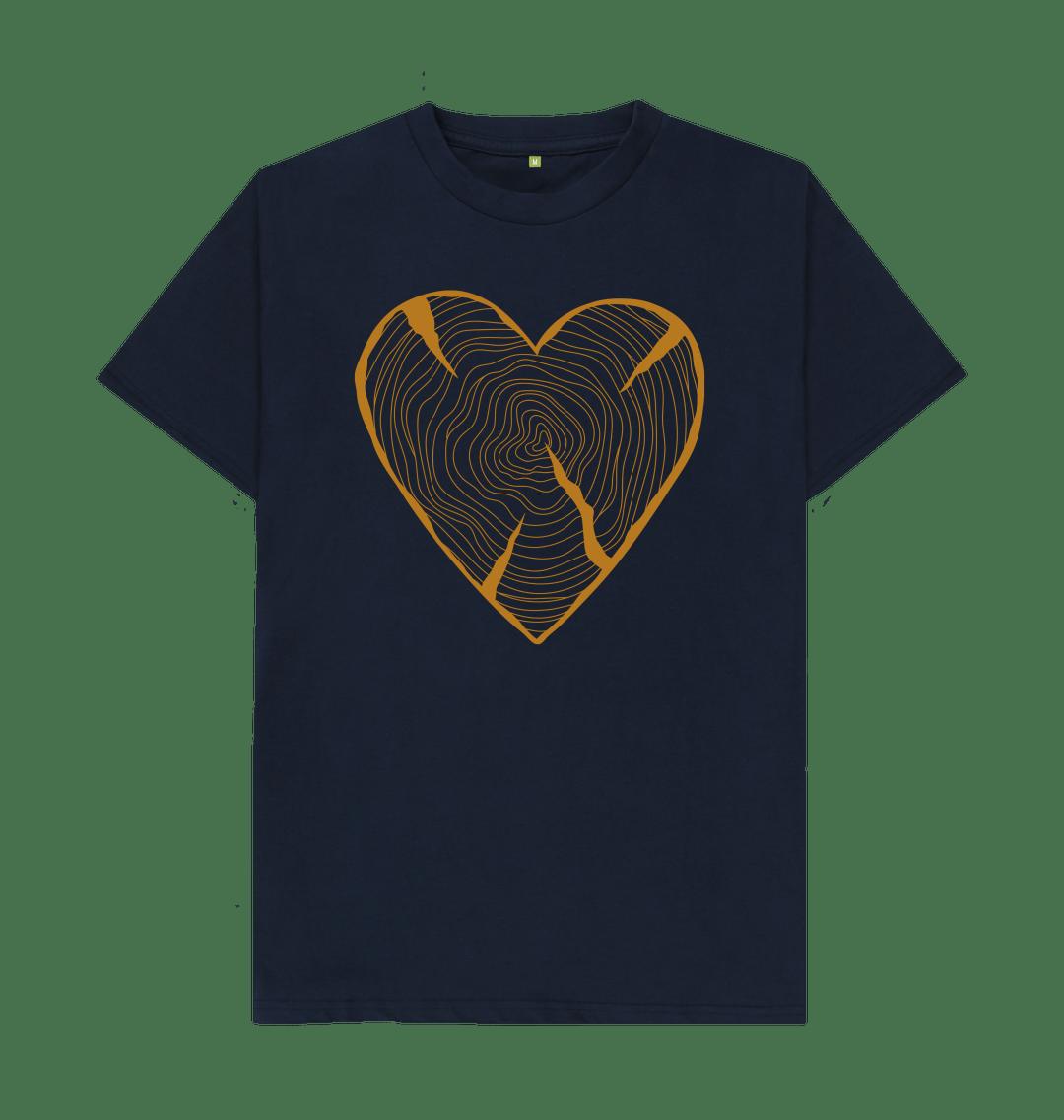 Unisex NATURE HEART ADVENTURE Organic Cotton T-shirt navy blue