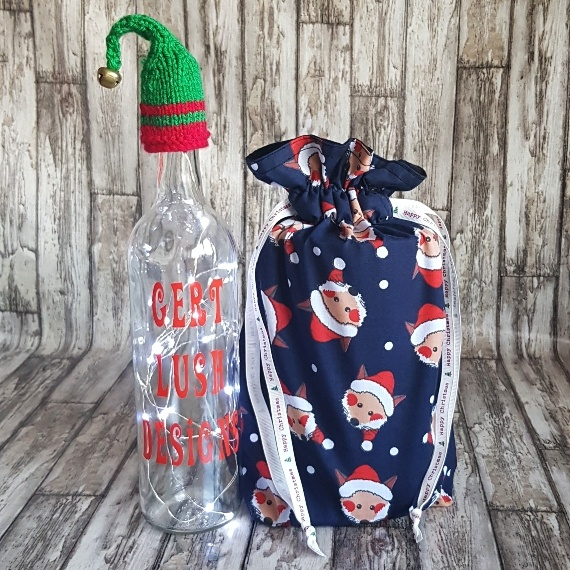 Eco-Friendly Fully Lined Reusable Christmas Gift Bag Storage Bag | Foxy Santa Kind Shop 3