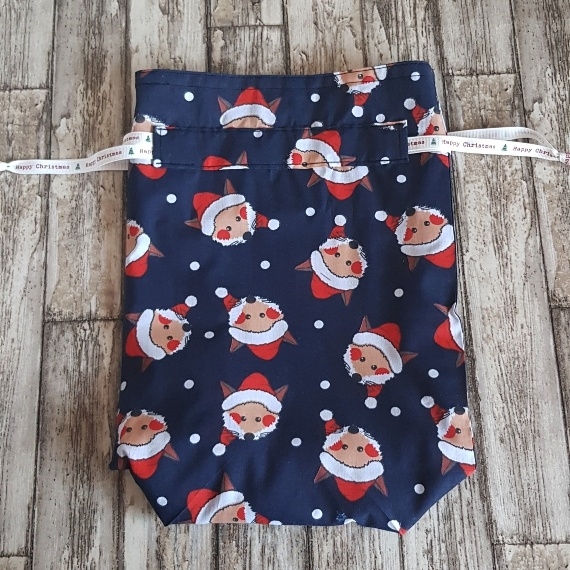 Eco-Friendly Fully Lined Reusable Christmas Gift Bag Storage Bag | Foxy Santa Kind Shop 4