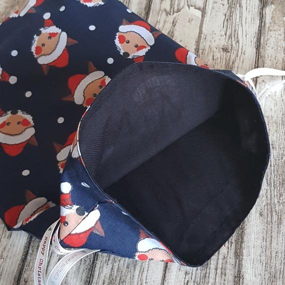 Eco-Friendly Fully Lined Reusable Christmas Gift Bag Storage Bag | Foxy Santa Kind Shop 7