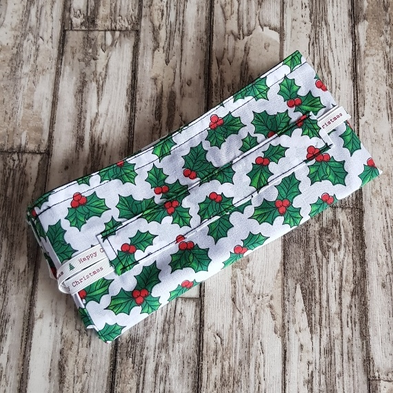 Eco-Friendly Fully Lined Reusable Christmas Gift Bag Storage Bag   Holly Print Kind Shop 8
