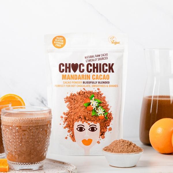 CHOC CHICK Raw Chocolate Mandarin Orange Cacao Blend (250g or case of 6) Kind Shop