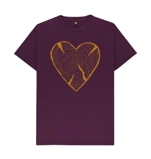 Nature_Lovers_T_Shirt_Adventure_Heart_Tree_Trunk_Rings_red_burgandy_wine