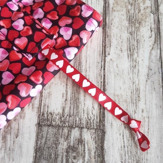 Eco Friendly Reusable Drawstring Gift Bag / Storage Bag   Red And Pink Hearts Kind Shop 6