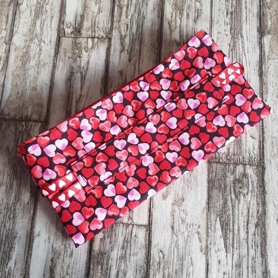Eco Friendly Reusable Drawstring Gift Bag / Storage Bag   Red And Pink Hearts Kind Shop 8