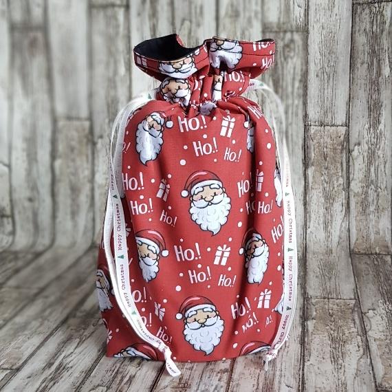 Santa Christmas Eco Friendly Fully Lined Reusable Gift Bag