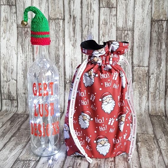 Eco-Friendly Fully Lined Reusable Christmas Gift Bag Storage Bag | Santa Print Kind Shop 3