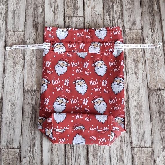 Eco-Friendly Fully Lined Reusable Christmas Gift Bag Storage Bag | Santa Print Kind Shop 5