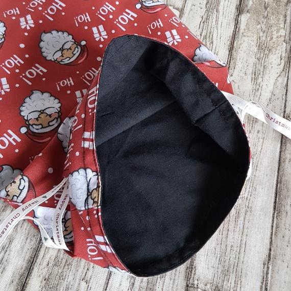 Eco-Friendly Fully Lined Reusable Christmas Gift Bag Storage Bag | Santa Print Kind Shop 7