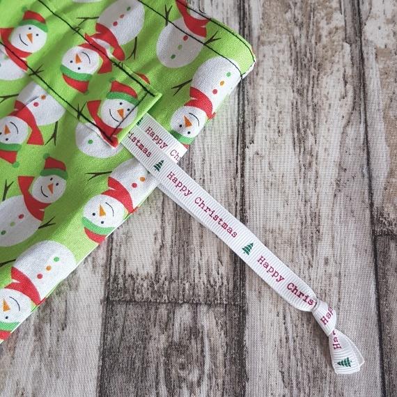 Eco-Friendly Fully Lined Reusable Christmas Gift Bag Storage Bag | Snowmen Kind Shop 6