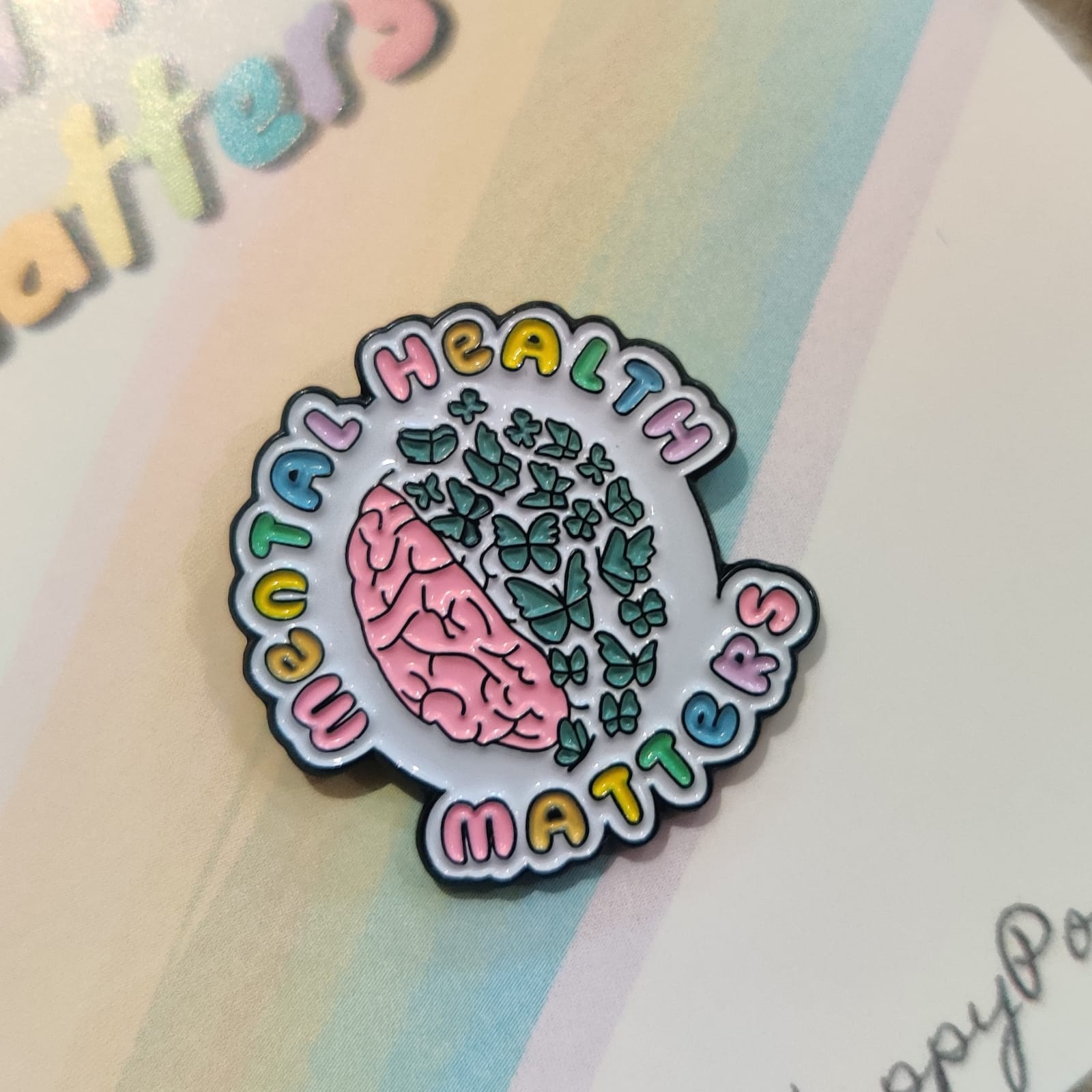 Mental Health Matters Enamel Pin Badge | Mental Health Support Pin | Mental Health is Important| Anxiety | Positivity Pin | Charity Donation Kind Shop 3