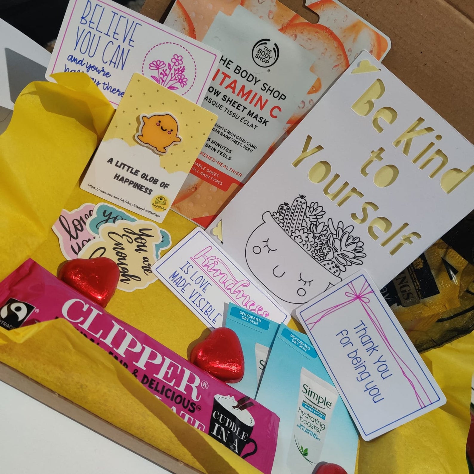 A Little Box of Happiness   Mental Health Support   Box of Positivity   Positive Reminder   Encouragement   Positive Charity Donation Kind Shop