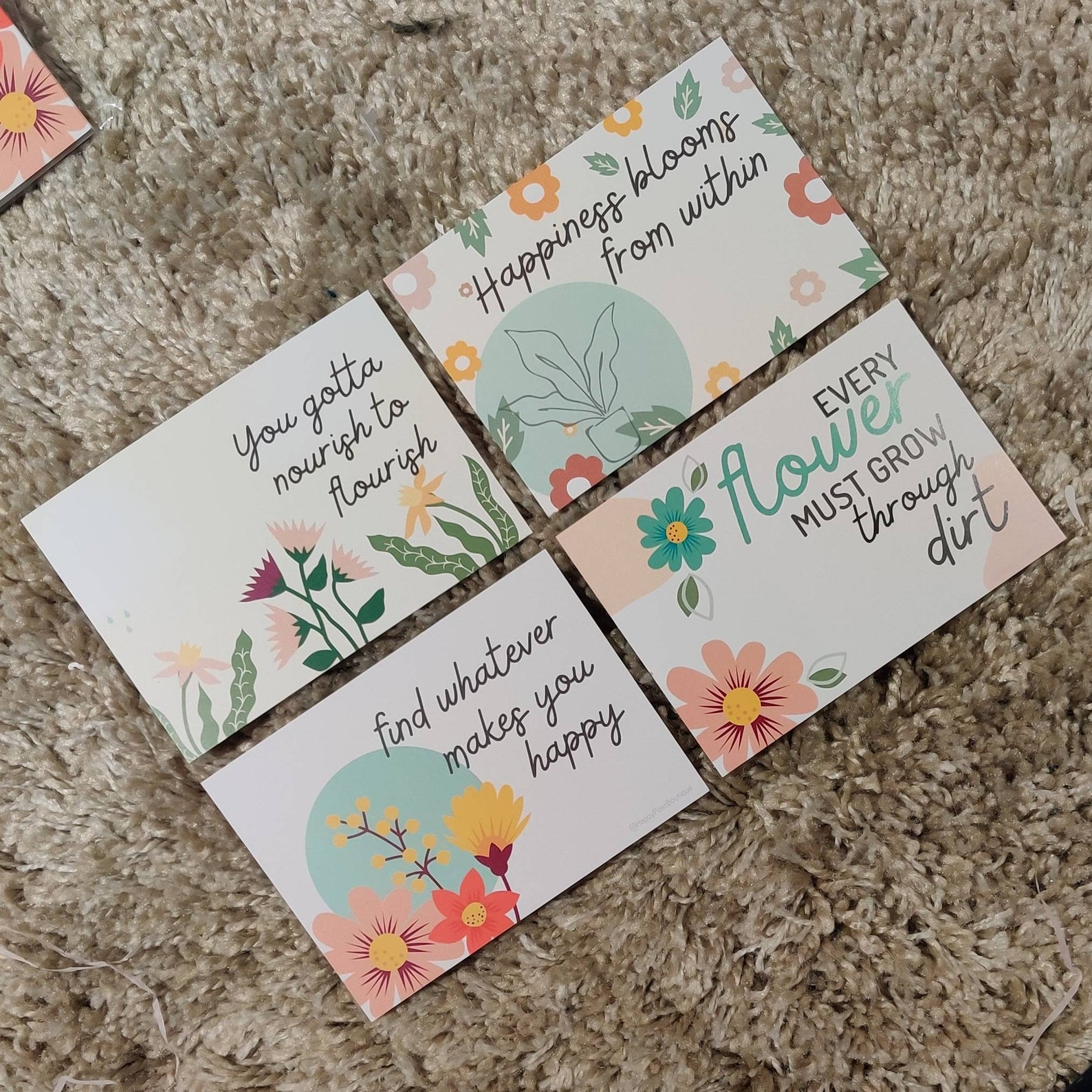 Floral Post Cards | Positive Post Cards | Cute Post Cards | Mental Health Support | Positive Reminder | Encouragement |Charity Donation Kind Shop