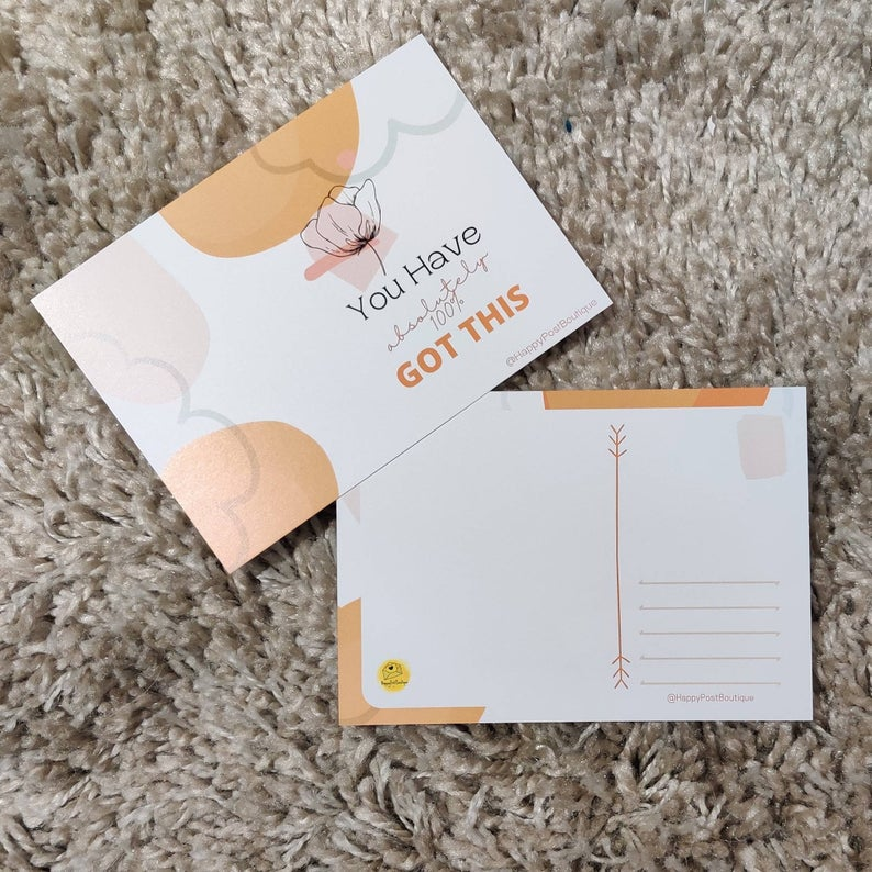 Abstract Post Cards | Positive Post Cards | Cute Post Cards | Mental Health Support | Positive Reminder | Encouragement |Charity Donation Kind Shop 4