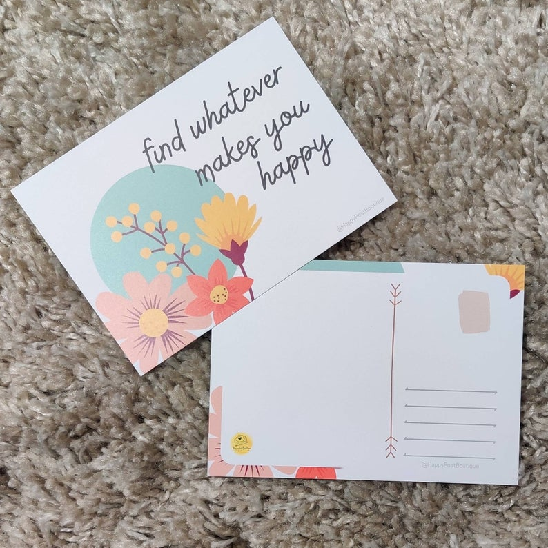 Floral Post Cards | Positive Post Cards | Cute Post Cards | Mental Health Support | Positive Reminder | Encouragement |Charity Donation Kind Shop 2