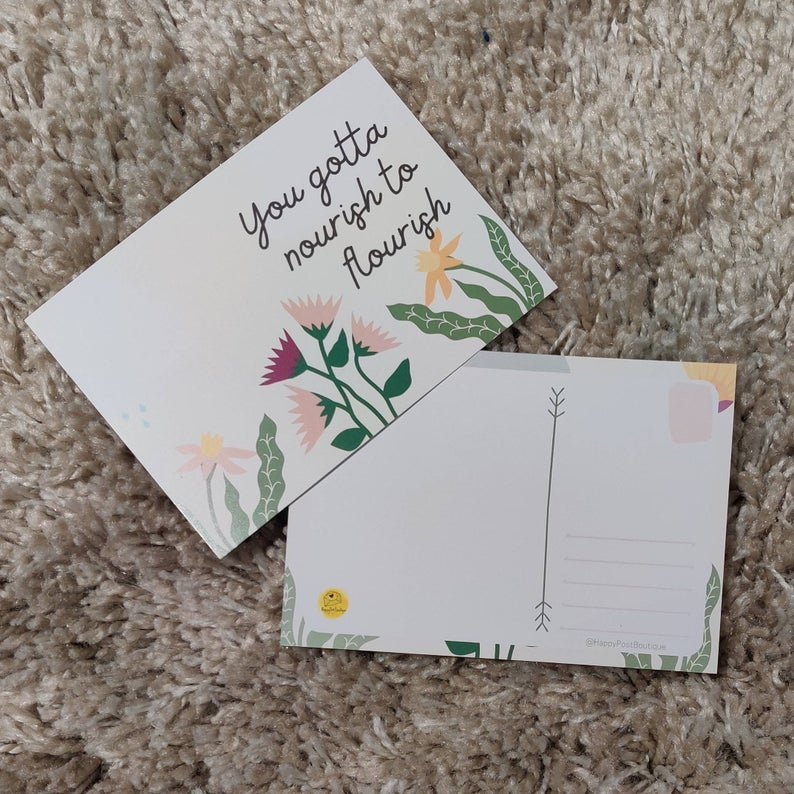 Floral Post Cards | Positive Post Cards | Cute Post Cards | Mental Health Support | Positive Reminder | Encouragement |Charity Donation Kind Shop 4