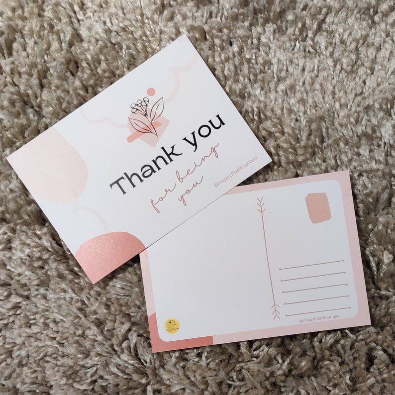 Abstract Post Cards | Positive Post Cards | Cute Post Cards | Mental Health Support | Positive Reminder | Encouragement |Charity Donation Kind Shop 5