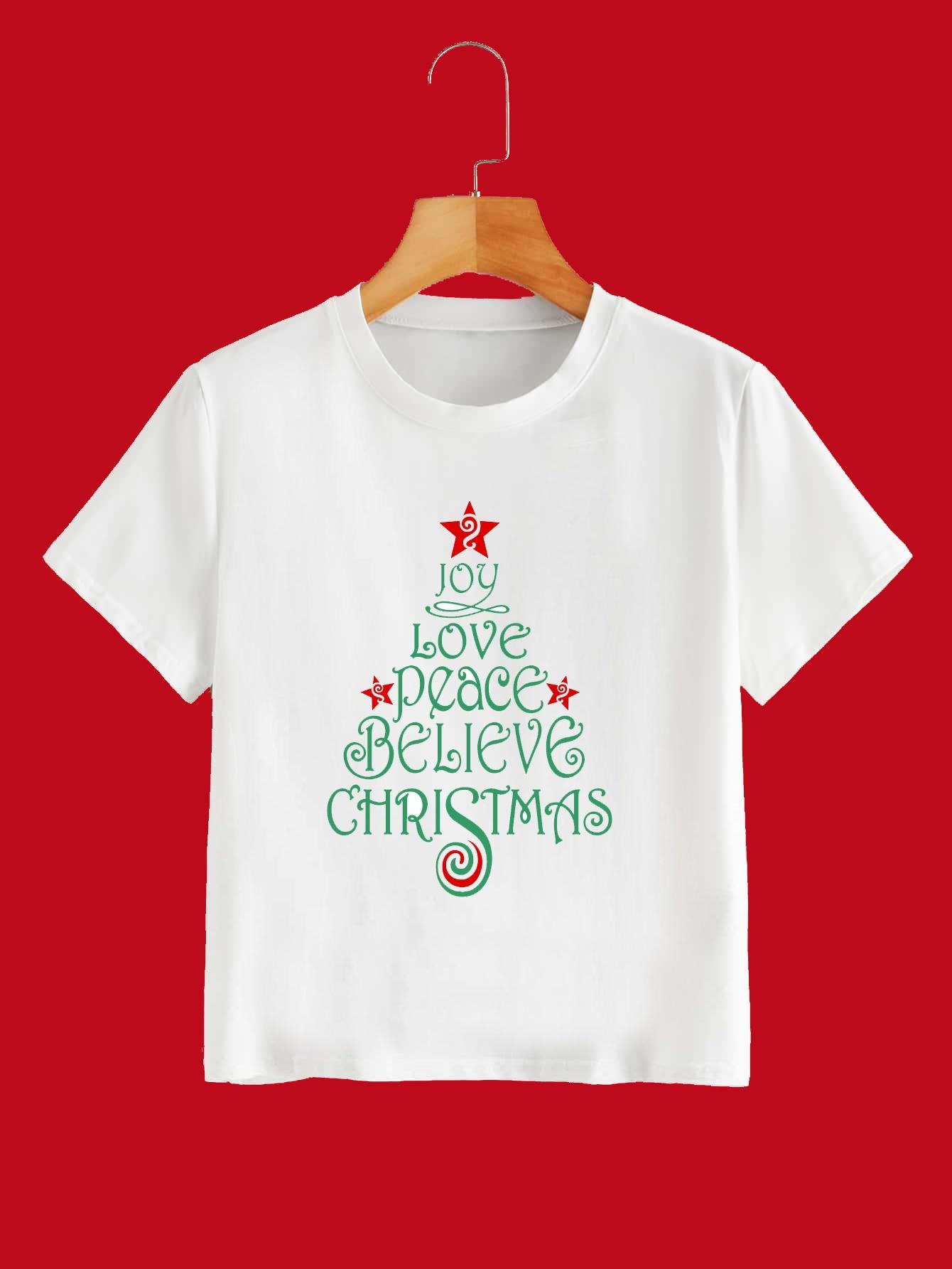 Christmas Word Tee Kind Shop