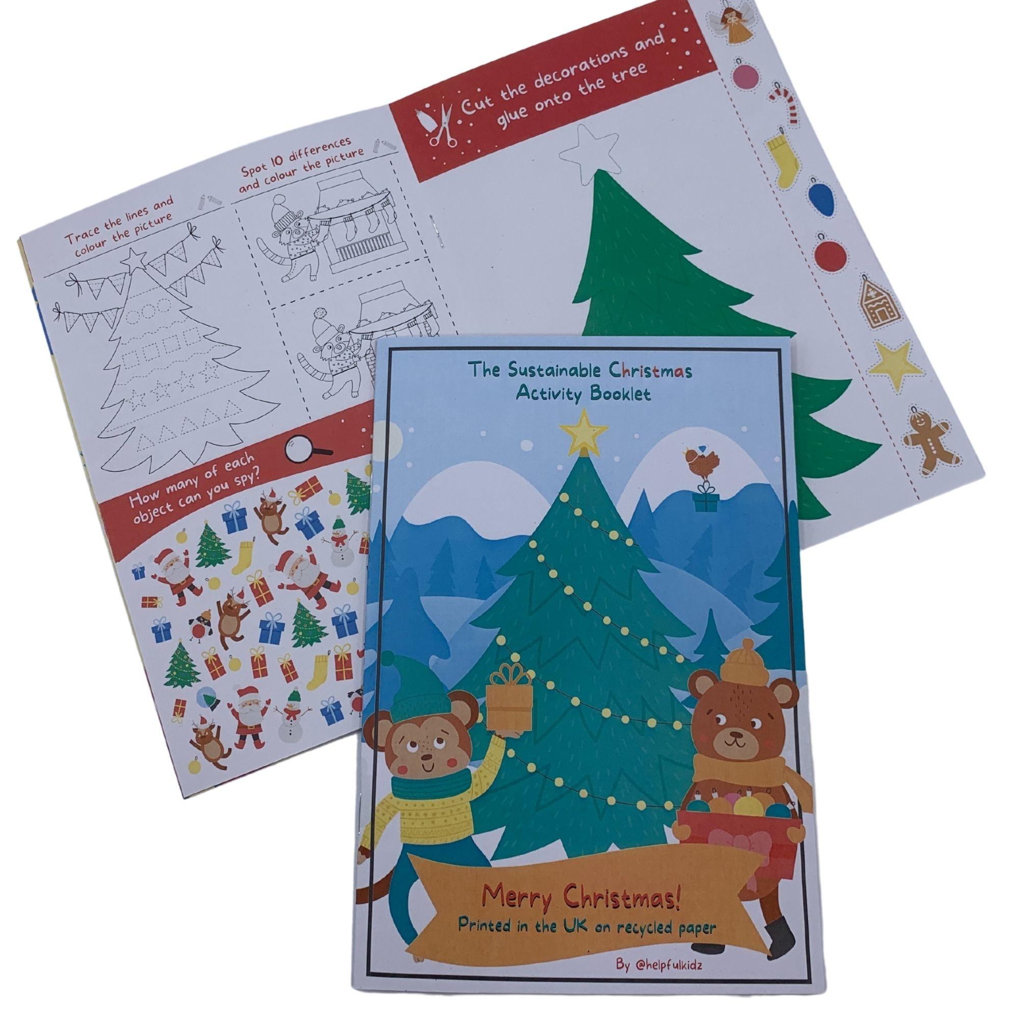 Christmas Children's Activity Book Eco Friendly