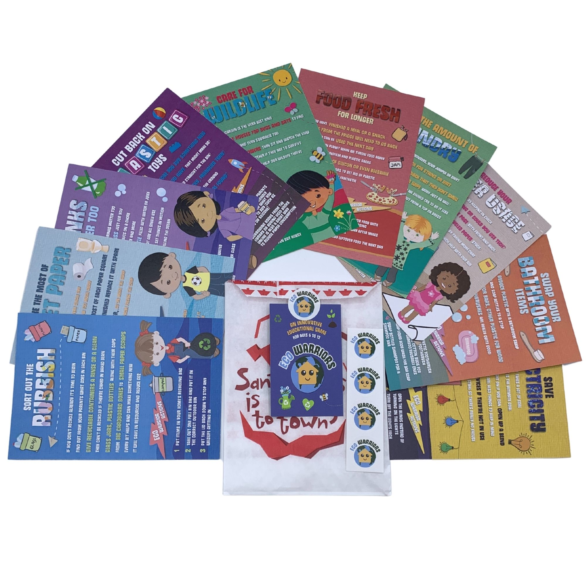 Eco warrior childrens activity book game