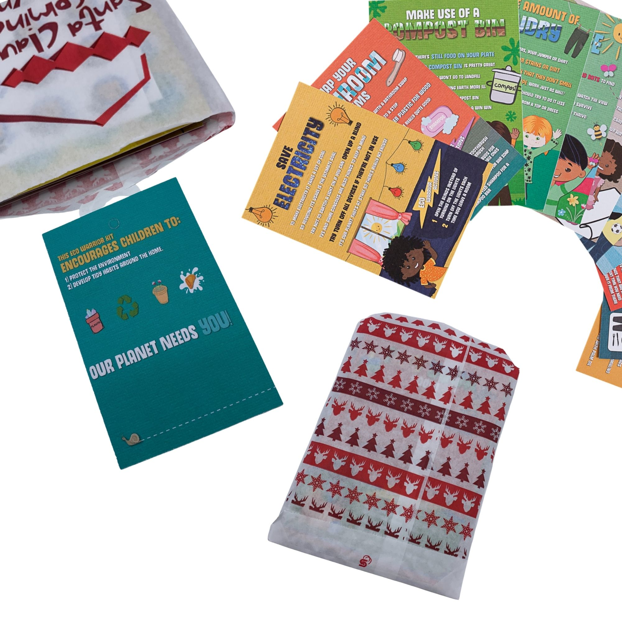 Eco Warriors Stocking Filler (Small Pack) - Christmas Eve Box Activity - Climate change, Sustainability, Recycled Cards for Kids, Children