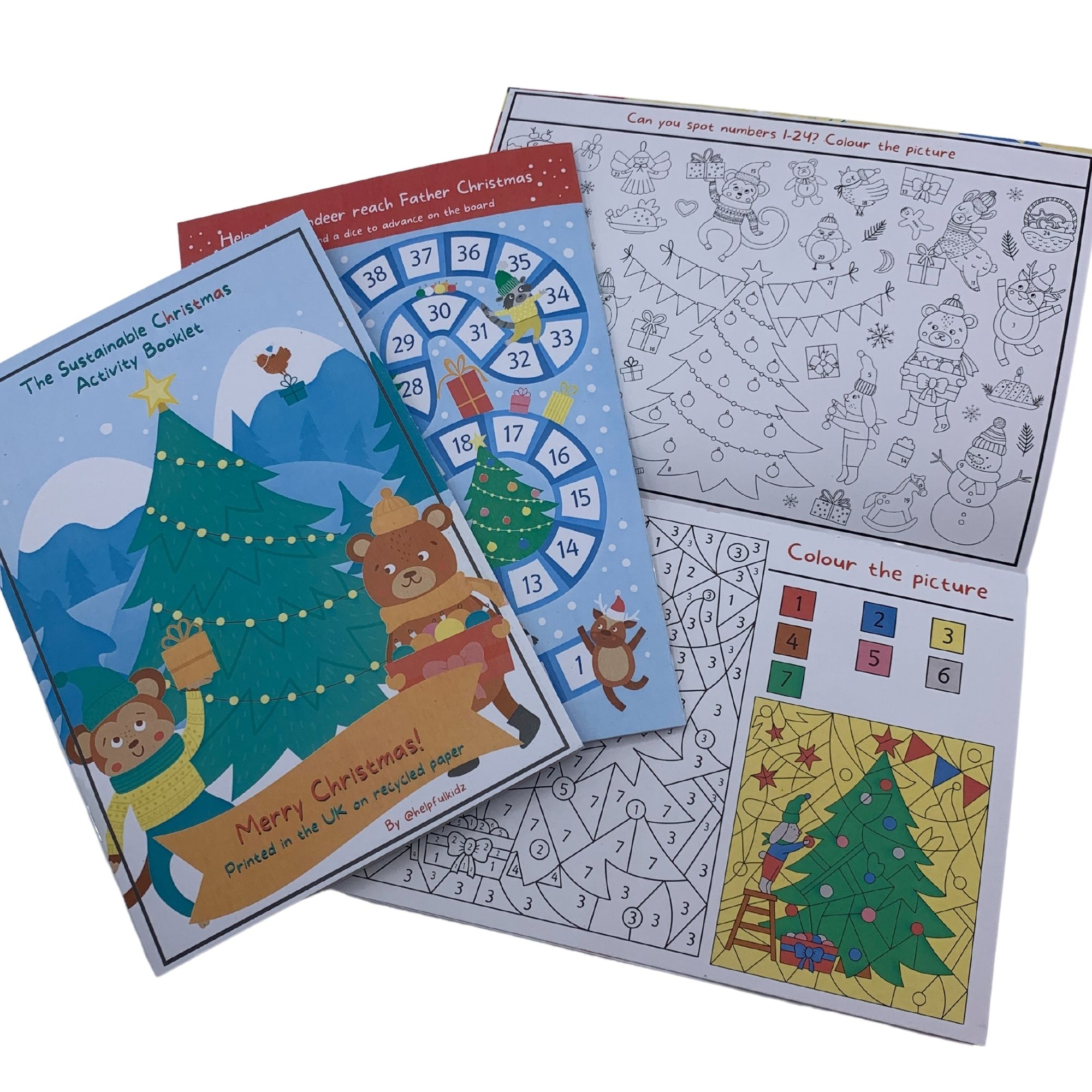 Christmas Children's Activity Booklet – Perfect for Eco Friendly Christmas Eve Boxes Kind Shop 2