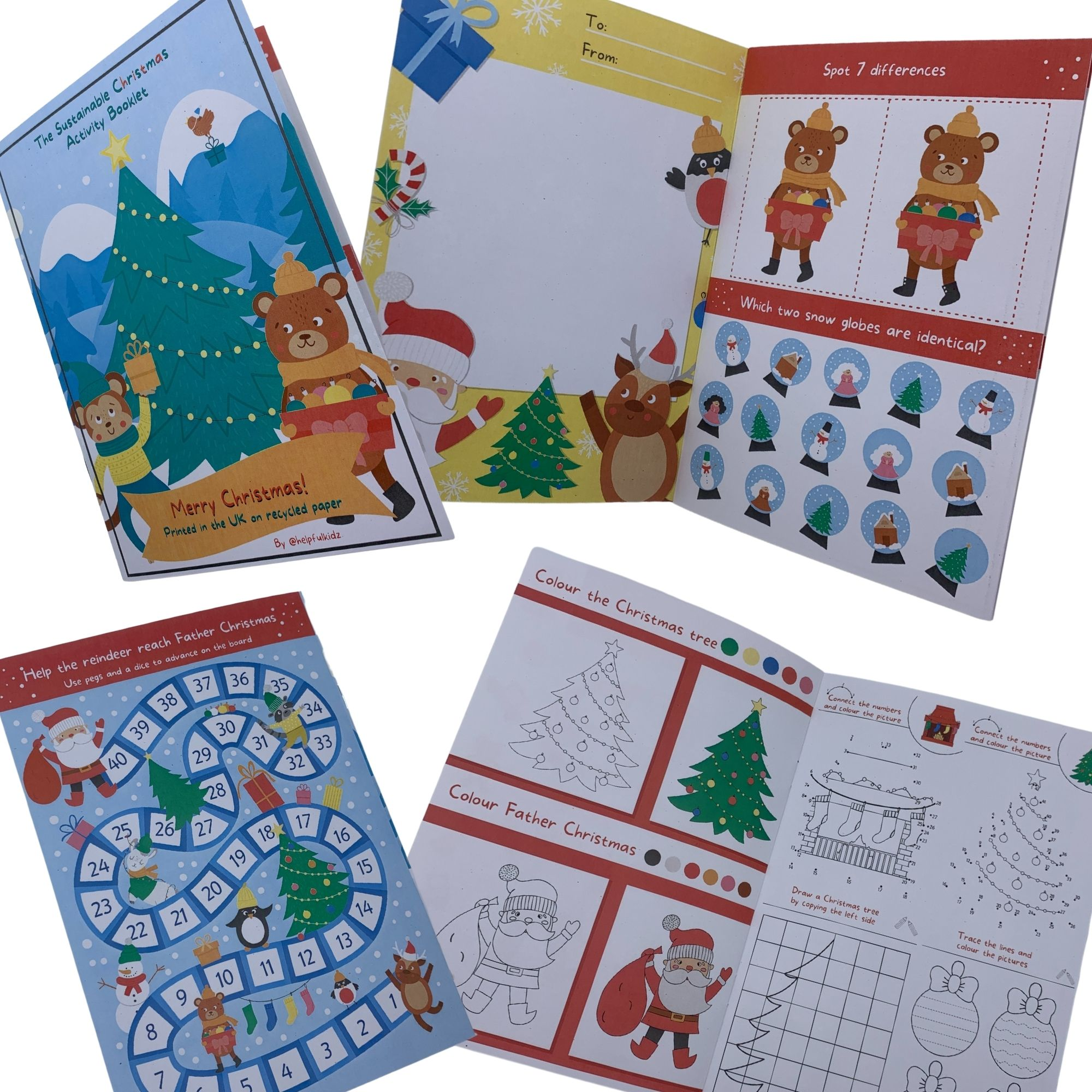 Christmas Children's Activity Booklet – Perfect for Eco Friendly Christmas Eve Boxes Kind Shop 3