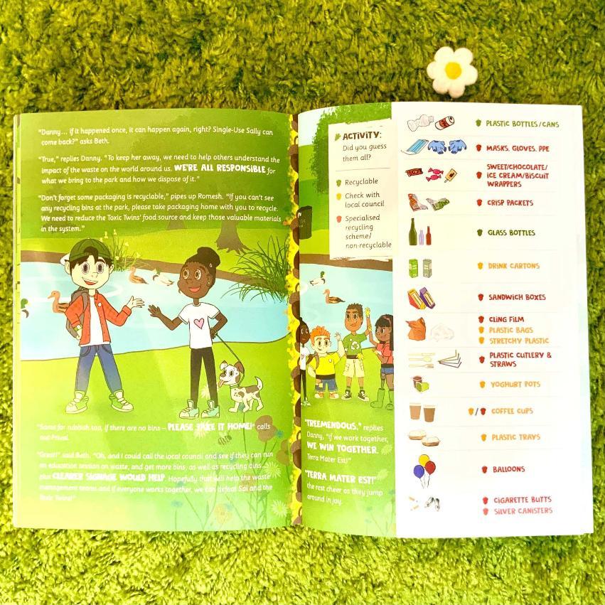 Eco Friendly Children's Book Litter Pick Activity Booklet