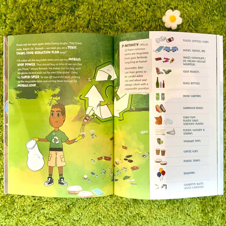 Eco Protection Squad Go To The Park Litter Picking Activity Book