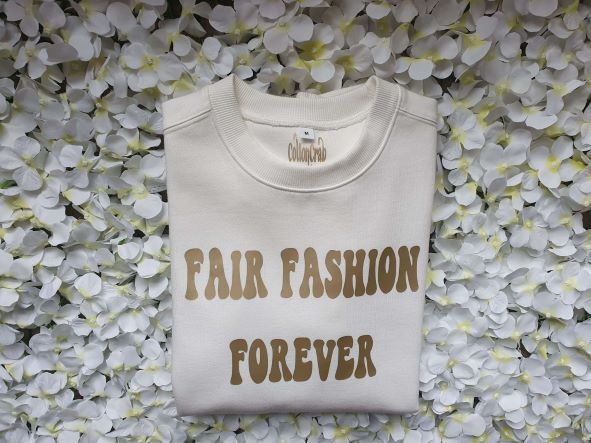 Organic Cotton White Mist Fair Fashion Forever Sweatshirt Kind Shop