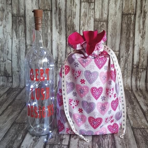 Eco Friendly Reusable Drawstring Gift Bag / Storage Bag | Hearts On White Kind Shop 3