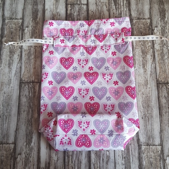 Eco Friendly Reusable Drawstring Gift Bag / Storage Bag | Hearts On White Kind Shop 4