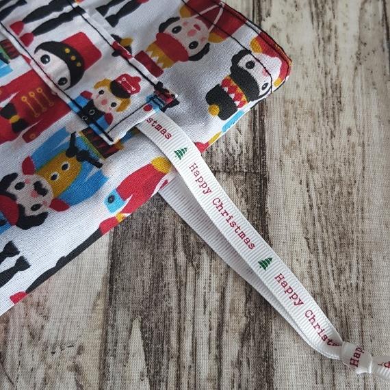 Eco-Friendly Fully Lined Reusable Christmas Gift Bag Storage Bag   Nutcracker Soldier Print Kind Shop 6