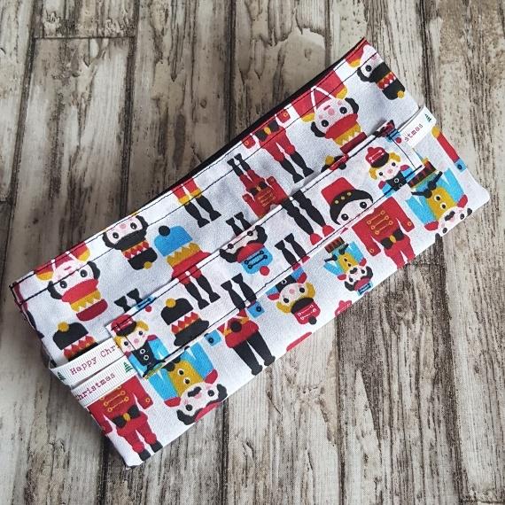 Eco-Friendly Fully Lined Reusable Christmas Gift Bag Storage Bag   Nutcracker Soldier Print Kind Shop 8