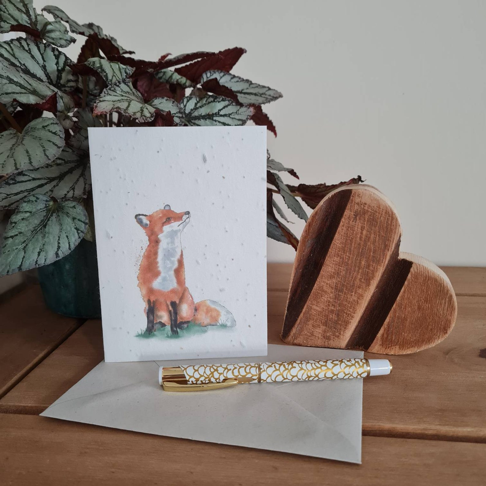 Plantable Wildflower Seed Card With Fox - Bee and Eco Friendly