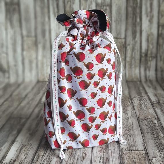 Eco-Friendly Fully Lined Reusable Christmas Gift Bag Storage Bag | Robins Print Kind Shop 2