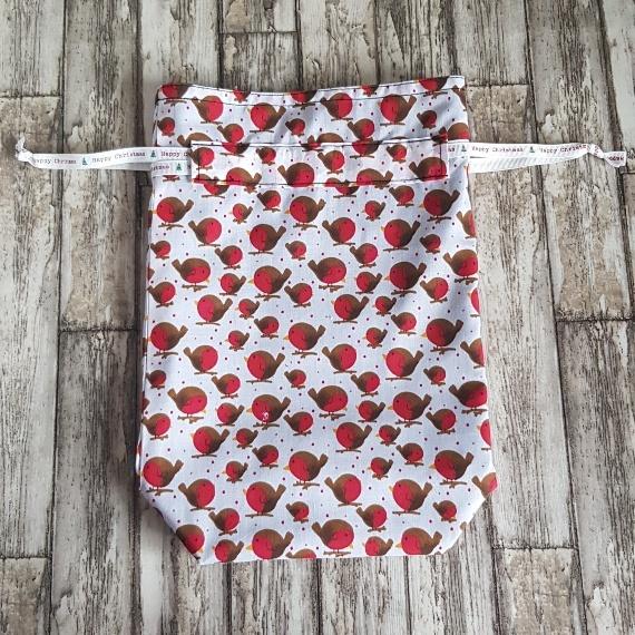 Eco-Friendly Fully Lined Reusable Christmas Gift Bag Storage Bag | Robins Print Kind Shop 4
