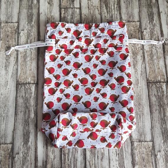 Eco-Friendly Fully Lined Reusable Christmas Gift Bag Storage Bag | Robins Print Kind Shop 5