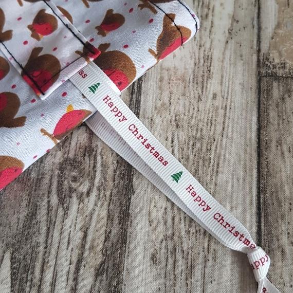 Eco-Friendly Fully Lined Reusable Christmas Gift Bag Storage Bag | Robins Print Kind Shop 6