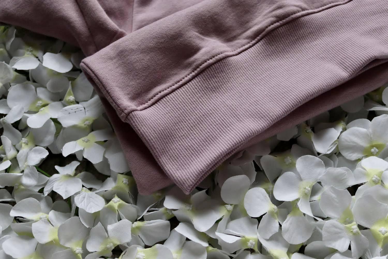 Organic Cotton Purple Rose Slow Fashion Vibin' Sweatshirt Kind Shop 4